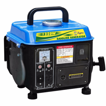 Sigma 1250 Watts Portable Gasoline Generator Power 2 Stroke RV Camping EPA/CARB