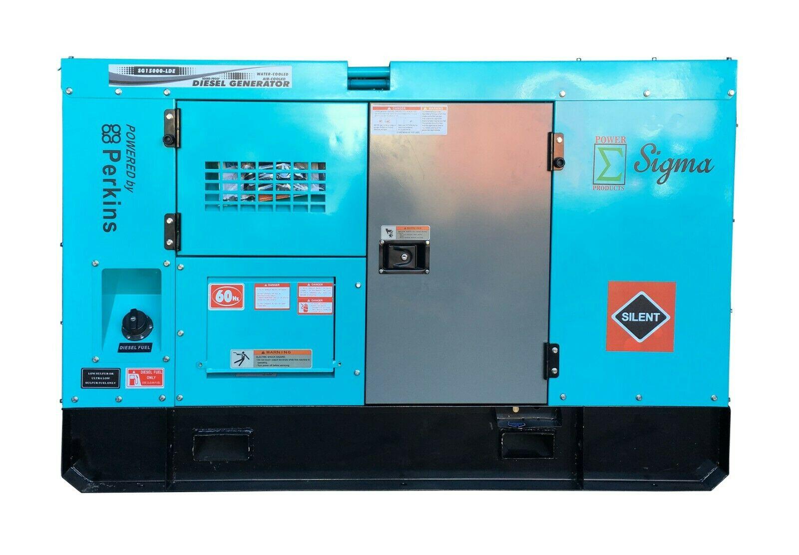 New Sigma 15KW 15000W Diesel Silent Generator & Perkins Engine Built-in ATS