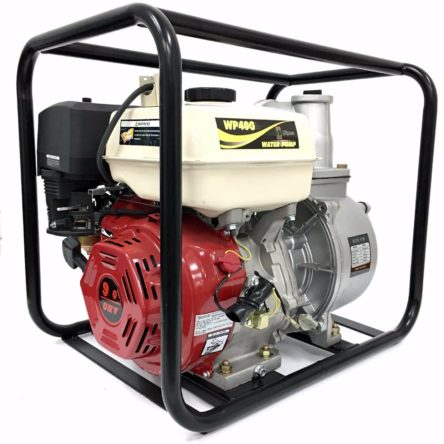 Miami Pickup New High Quality 4″ in. 9HP Gasoline Engine Semi-Trash Water Pump