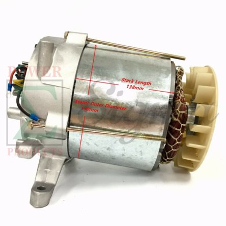 Tapered Cone Alternator Rated 5000 Watt Brush Design Generator Head With AVR