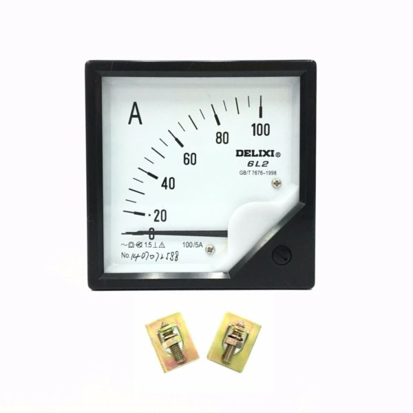 AC 0-100A 6L2 Current Analog Ampere Panel Meter Gauge Class 1 5 With Bolts