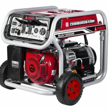 Miami Pick Up A-iPower 12000W Gas Powered Electric Start Generator SUA12000E