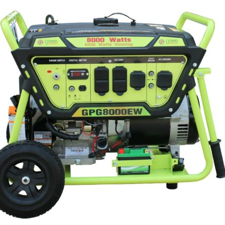 Miami Pickup Green Power 8000/6500 Watts Electric Start Gas Generator GPG8000EW